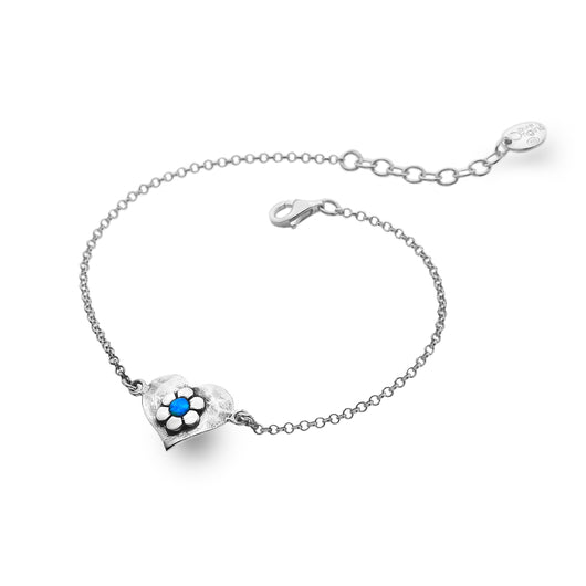 Blue Love Flower Bracelet