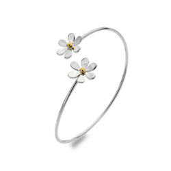 Double Daisy Twist Bangle