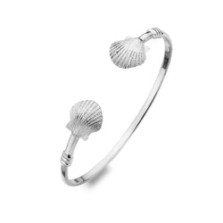 Scallop shell torque bangle