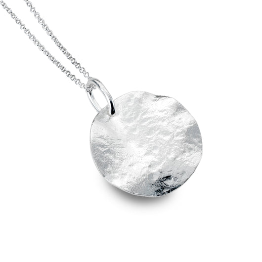 Hammered Coin Pendant