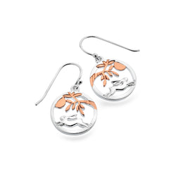 Moonlight hare earrings