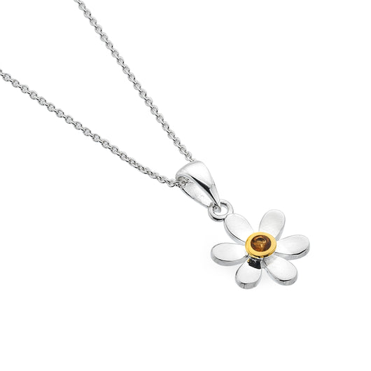 November birthstone daisy pendant
