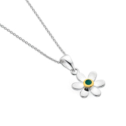 May birthstone daisy pendant