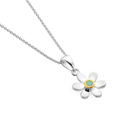 October birthstone daisy pendant