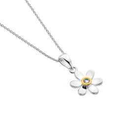 April birthstone daisy pendant
