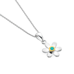December birthstone daisy pendant