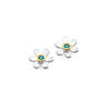March birthstone daisy studs