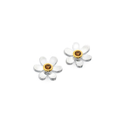 November birthstone daisy studs