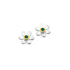May birthstone daisy studs