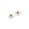 January birthstone daisy studs