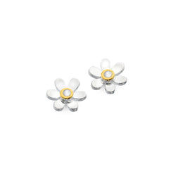 June birthstone daisy studs