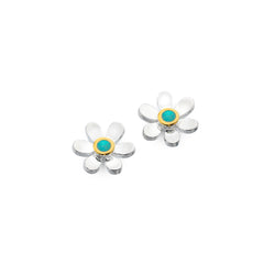 December birthstone daisy studs