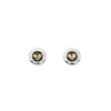 Oxidised love heart studs