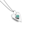 Photo of Forever turquoise heart pendant