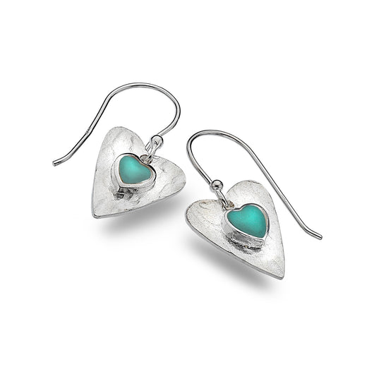 Photo of Forever turquoise heart earrings
