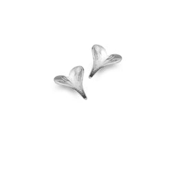 Photo of Leaf heart studs