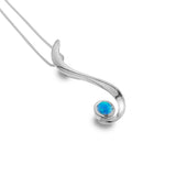 Flowing blue drop pendant