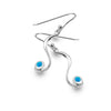 Flowing blue drop earrings