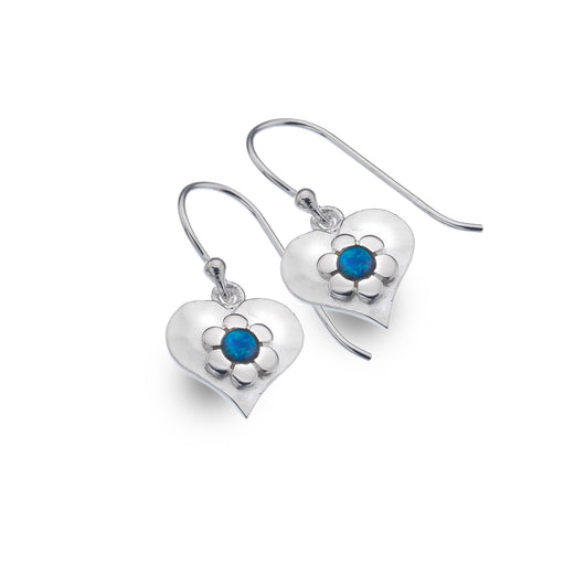 Photo of Blue love flower earrings