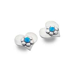 Photo of Blue love flower studs