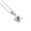 Photo of Tiny blue daisy pendant