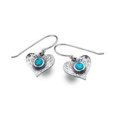 Photo of Blue heart earrings