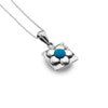 Photo of Arty blue flower pendant