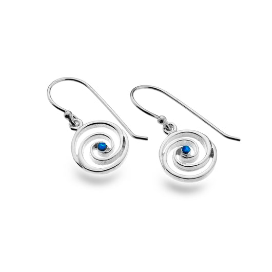 Ocean blue swirl earrings