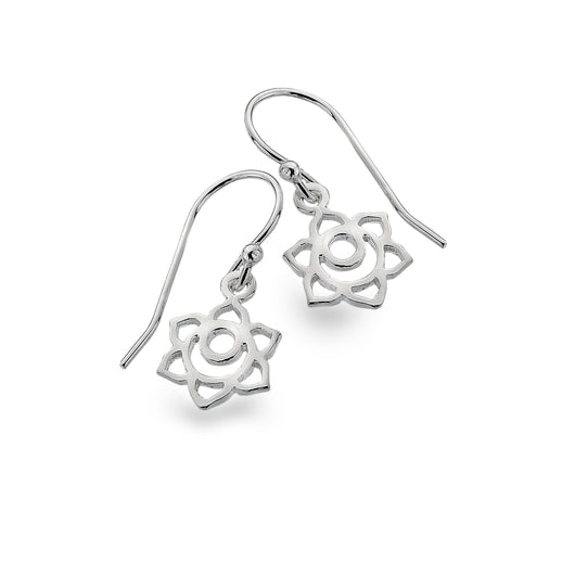 Lotus flower and moon earrings