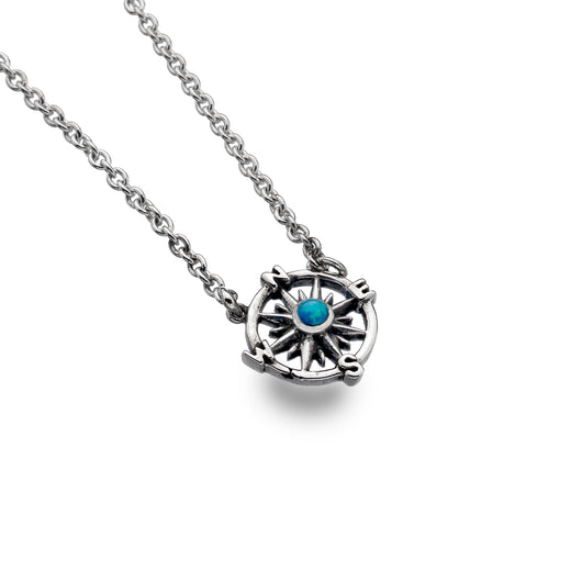 Blue Opalite Compass Necklace