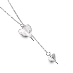 Leaf Heart Lariat Necklace