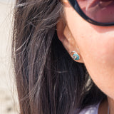 Turquoise Wave Studs