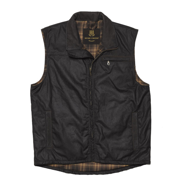 Gilet Waxed Cotton Vest