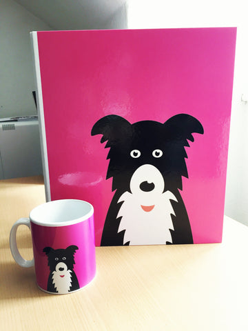 Ollie Collie Colours Pink Ring Binder