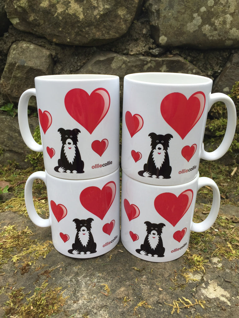 Original Ollie 'Love' Ceramic Mug Set of 4