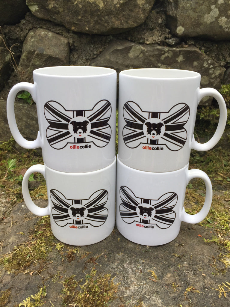 Union Bone Design Ceramic Mug Set of 4