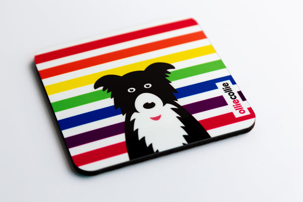 Rainbow Ollie Mug & Coaster Set