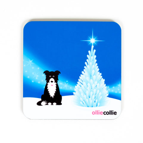 Original Ollie Christmas Coaster Blue