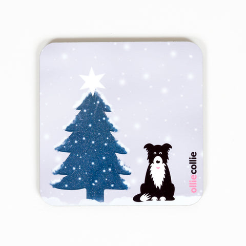 Original Ollie Christmas Coaster Grey
