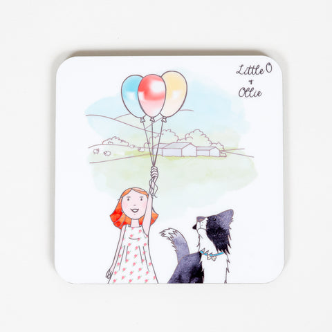Little O & Ollie Balloons Design Coaster