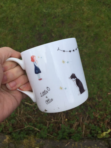 Little O & Ollie Bone China Butterfly & Bunting Mug
