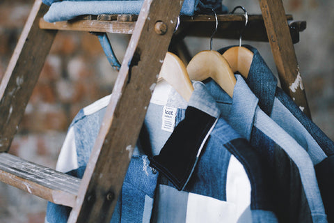 sustainable reworked vintage denim jackets and jeans