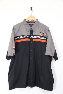 Men's Harley Davidson Short Sleeve Shirt - Black XXXL