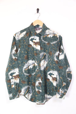 Women's Woolrich Pine patterned Long Sleeve Shirt - Green M