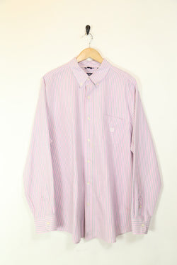 Men's Striped Chaps Shirt - Pink XXL