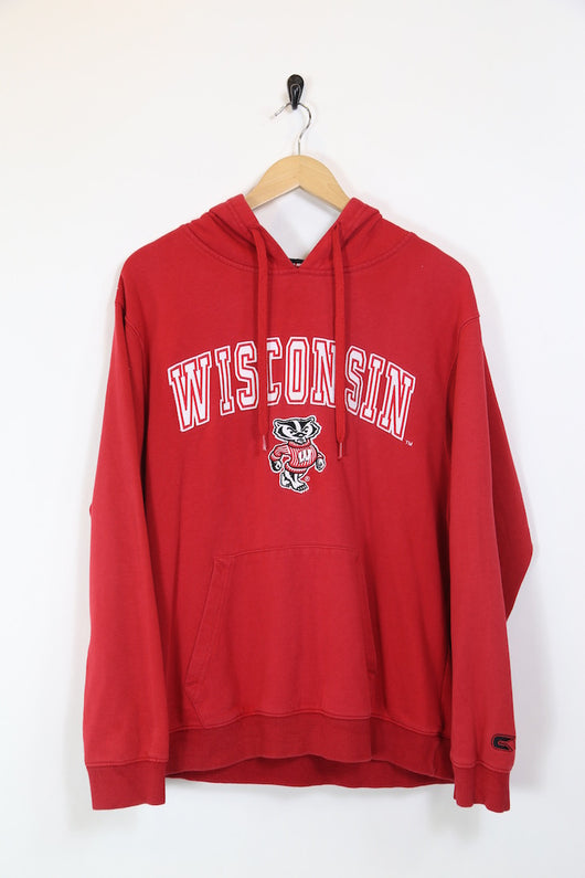 Men's Wisconsin Hoodie - Red L