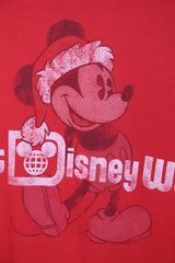 2000's XMAS Men's Disney T-Shirt - Red XL