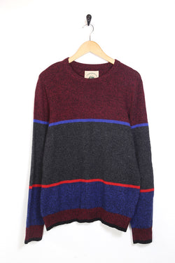 1990s Men's Striped Knitted Jumper - Multi L