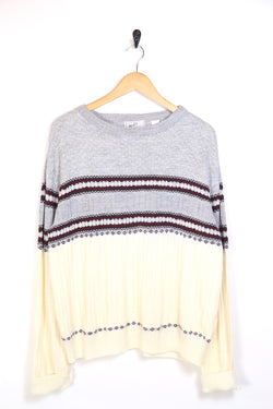 2000s Men's Patterned Knitted Jumper - Multi XL