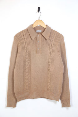 1970s Men's Knitted Jumper - Brown M